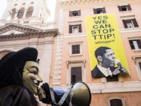 Roma grida Stop TTIP!